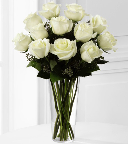 FTD's White Rose Bouquet